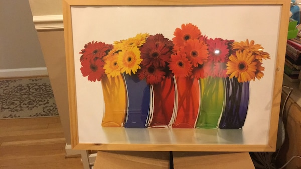 red and yellow flowers in vase painting 40e25238-c867-46ce-8d19-4650fba51315