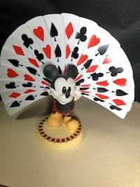 This WDCC Mickey Mouse Playing Card Plumage is from Walt Disney's Thru the Mirror.  Warwick