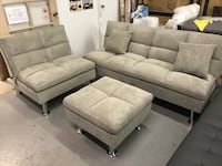 Brand new grey fabric 3pc sofa bed set warehouse sale  多伦多, M1V 1E9