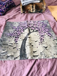 3D lavender tree throw pillow cover as seen on Amazon. Never used.