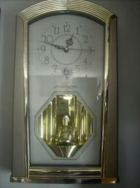chrome yellow and white wall analog clock