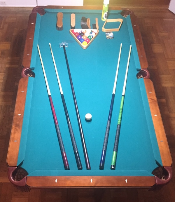 Used Olhausen Classic Pool Table In Portland Blackhawk Style - 7 foot pool table dining top
