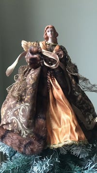 Earthly Angel Tree Topper with Faux fur coat Newmarket, L3Y