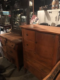 Oak dresser and chest of drawers with hat box   Johnson City, 37615