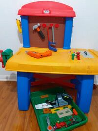 little tikes euc work bench with tools Mississauga, L5V 2W9