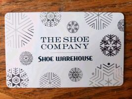 $90 for a $100 Shoe Warehouse / The Shoe Company gift card