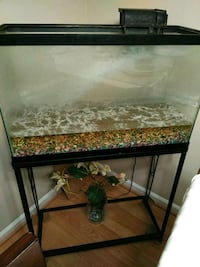 black framed clear glass fish tank Stone Mountain, 30087