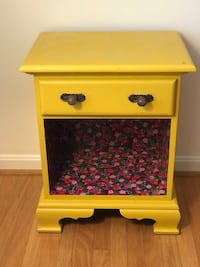Yellow nightstand or side table