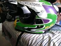 green and white motocross helmet Halethorpe, 21227