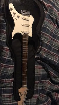 Black and white electric guitar Ajax