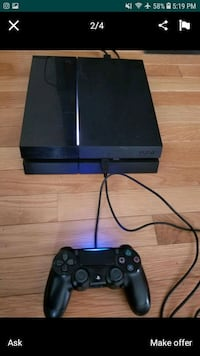 black Sony PS4 console with controller Providence, 02906