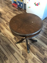 Antique wooden barstool table
