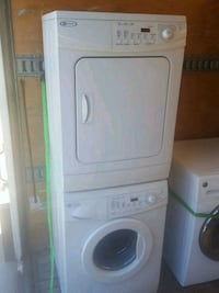 white front-load washer Vancouver, V6E 4R4