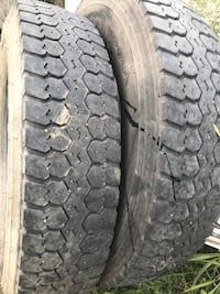 Firestone truck tires, matched pair, 10R/22.5 , 12 ply,load range F. Indianola, 50125