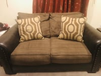 Used brown leather sofa and loveseat Manassas, 20110