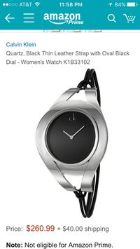 quartz, black thin leather trap with oval black dial - women's watch k1b33102 Annandale, 22003