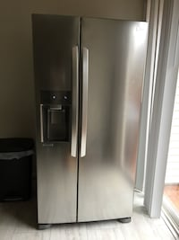 Stainless steel side-by-side refrigerator with dispenser Mc Lean, 22102