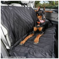Dog Seat Cover ,Waterproof Back Seat Cover for Cars,SUVs,Trucks with Dog Hammock,Seat Anchors,Nonslip Net.Dual Use for Picnic Mat Chino Hills, 91709