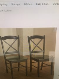 two brown wooden bar stools New York, 11364