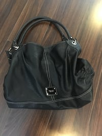 black leather 2-way bag Coquitlam, V3K 6W6