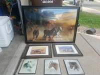 six assorted horse photo-frame collection Colorado Springs, 80922