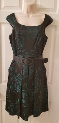 black and green floral sleeveless dress SPRINGFIELD