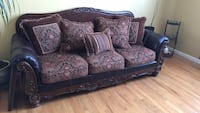 brown and black floral fabric sofa Middle Island, 11953