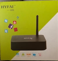 HYFAI QR6 QUAD CORE TV BOX ANDROID 6.0 4K 3D H.265 1G/8G TV BOX Vancouver, V6G 3B7