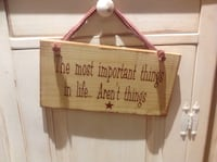 Country sign 101/2 x 6 excluding hanger, very cute Selden, 11784