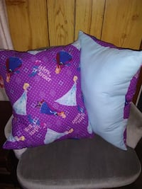 Handmade Frozen Elsa Pillows with Lt. Blue Backs  Council Bluffs