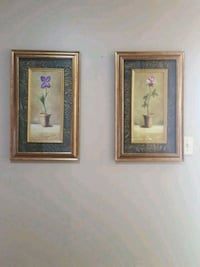 two brown wooden framed painting of flowers Oakville, L6M 3C2