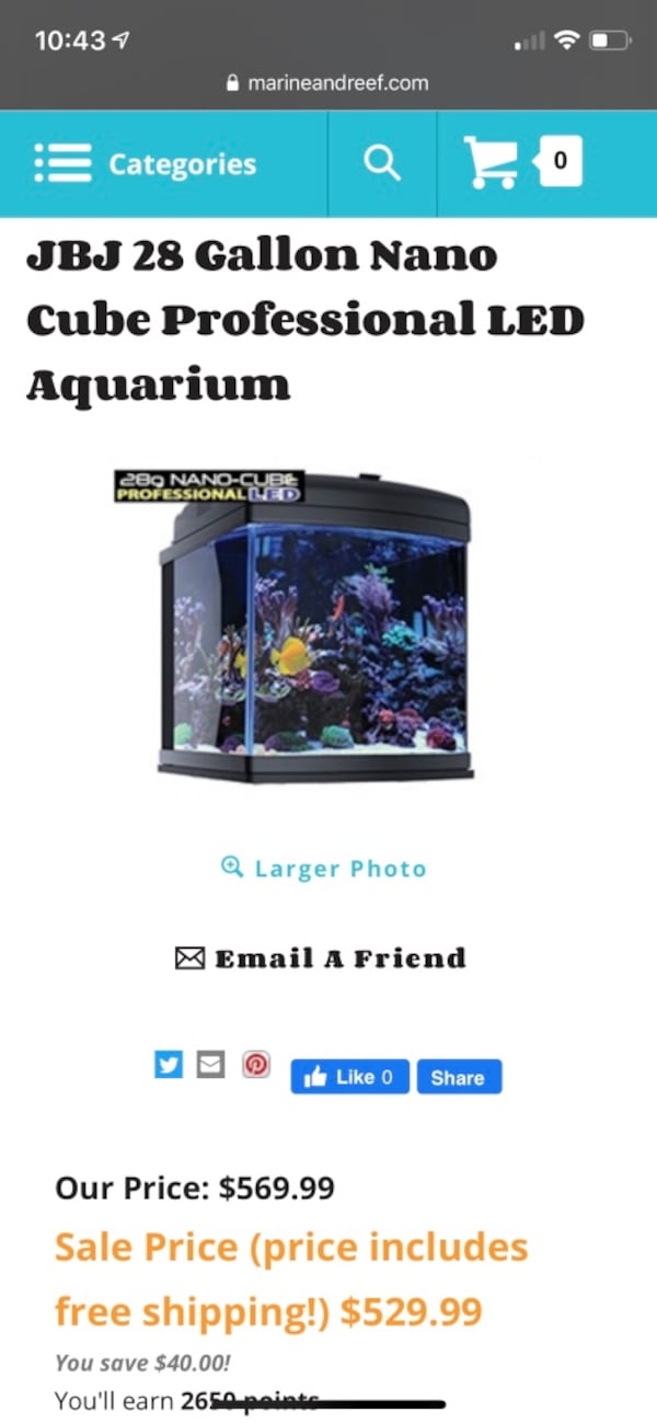 JBJ 28G LED Saltwater Aquarium *NEW* 283a71a9-5a64-47c7-9b0b-5fcd6b13ba00