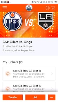 SOLD OUT GAME 2 HOCKEY TICKETS  Edmonton, T5H 2W4