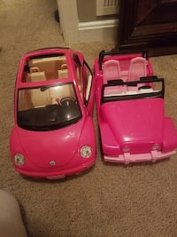2 barbie cars  Herndon, 20171