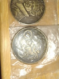 Evil knievel rare collectable coins Warren, 44484