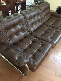 Modern leather and metal tube furniture...3 piece.  Langley, V2Y 2Z3