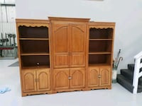 brown wooden TV hutch with cabinet Forest Hill, 21050