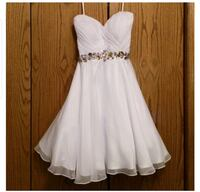 White Alyce Paris Sweetheart Chiffon Dress .new.   Louisville, 40299