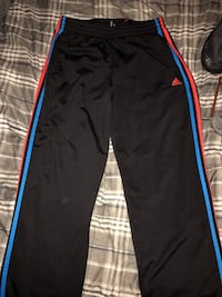 Black and red adidas track pants Pickering, L1W