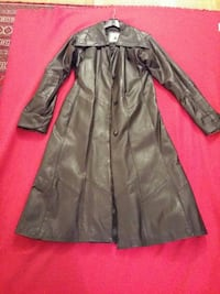 black black leather single-breasted trench coat Toronto, M3N 2T8