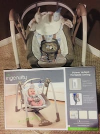 BNWB Ingenuity Baby Rocker (comes w/ box of #1 unopened baby diapers)