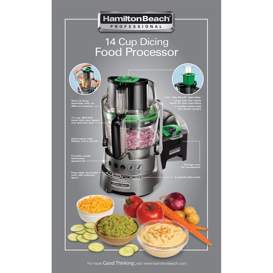 Brand new-Hamilton Beach Professional 14 Cup food processor