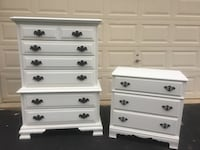 Set of 2 White Solid Wood Dressers Manassas, 20112
