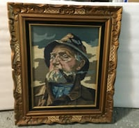 White beard man puffing pipe needle point Montréal, H3G 1B7