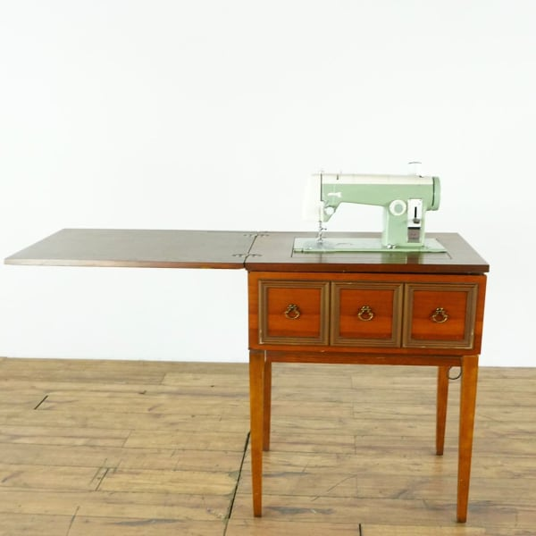 Antique Carved Wood Kenmore Sewing Machine Table (1022246)