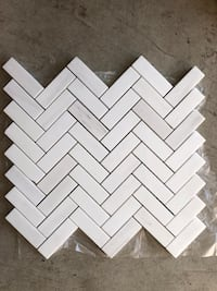 2x6 white dolomite polished mosaic  Oakville