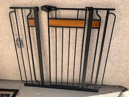 Two baby gates available (sold separately)
