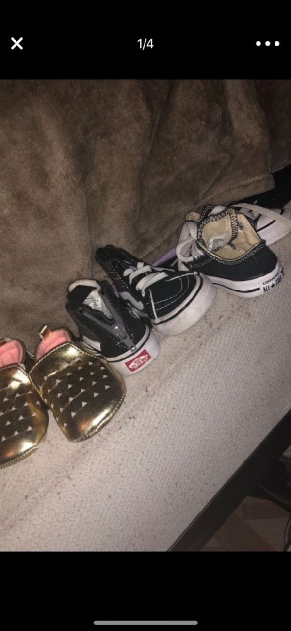 298f3dad54f Used Three pairs of shoes bundle. Vans sandals and converse for sale ...