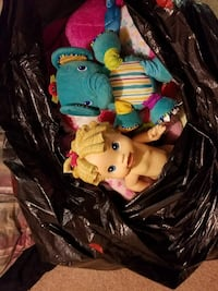 HUGE lot of Stuffed Animals and Dolls