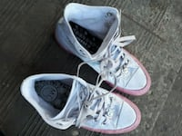 pair of white Converse All Star high top sneakers Edmonton, T6L